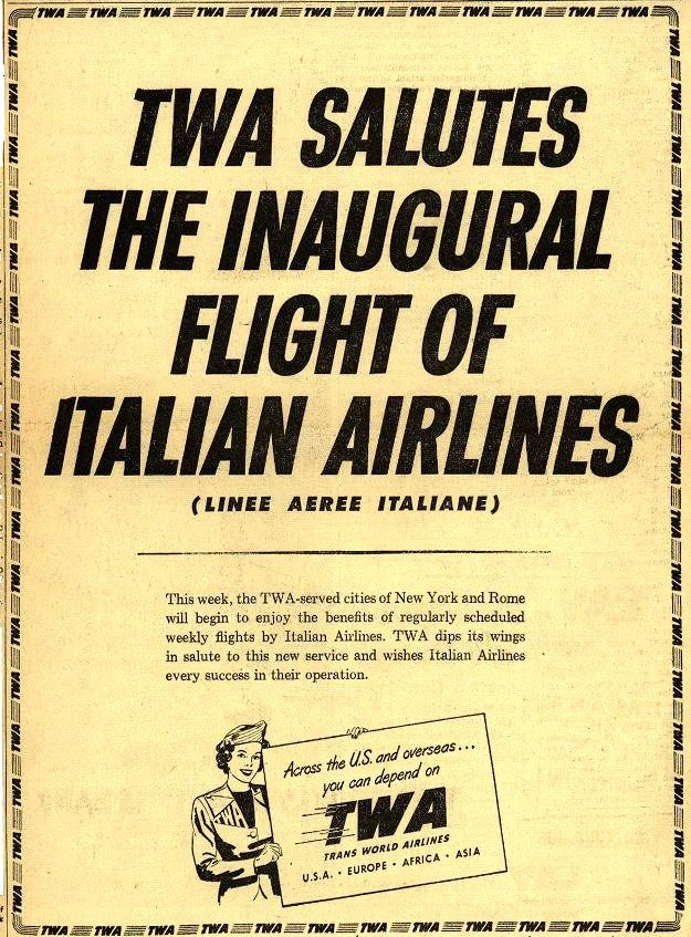 Vintage Trans World Airline 1950 Twa, Vintage airlines