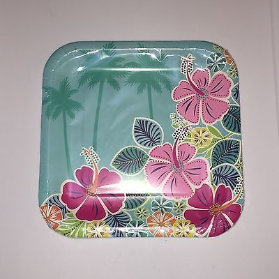 Luau Floral Beach Summer Pool Party Dinner Paper Plates & Luau Floral Beach Summer Pool Party Dinner Paper Plates   My Shop ...
