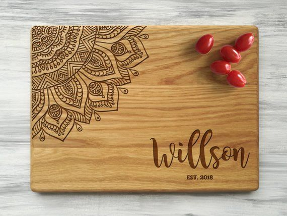 Custom Cutting Board Mandala Wedding Gift For Couple Housewarming