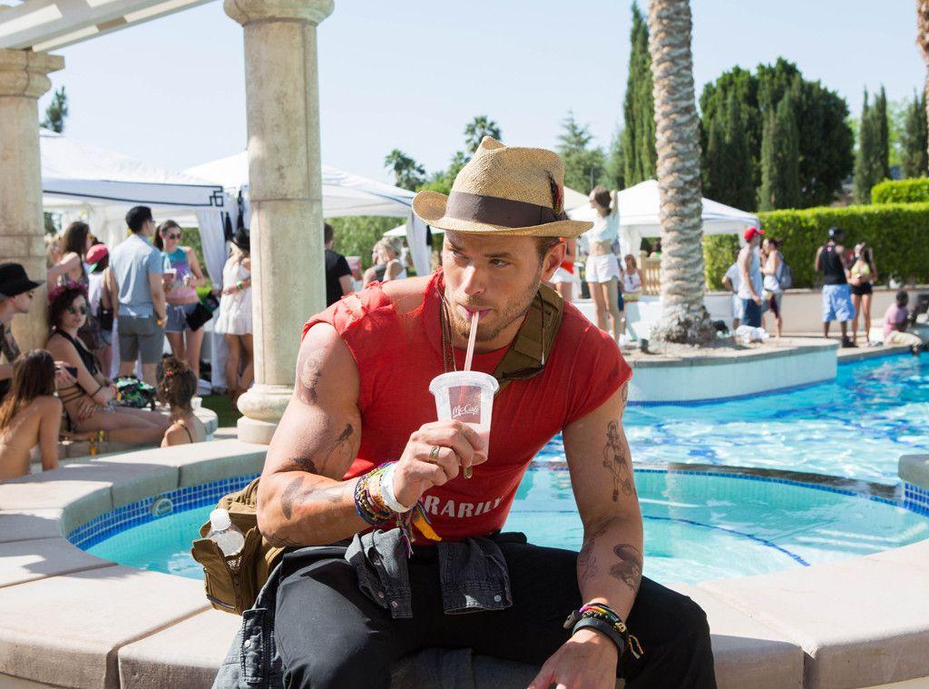 Kellan Lutz at the McDonald's & Stingray Pool Party at the Bootsy Bellows Estate