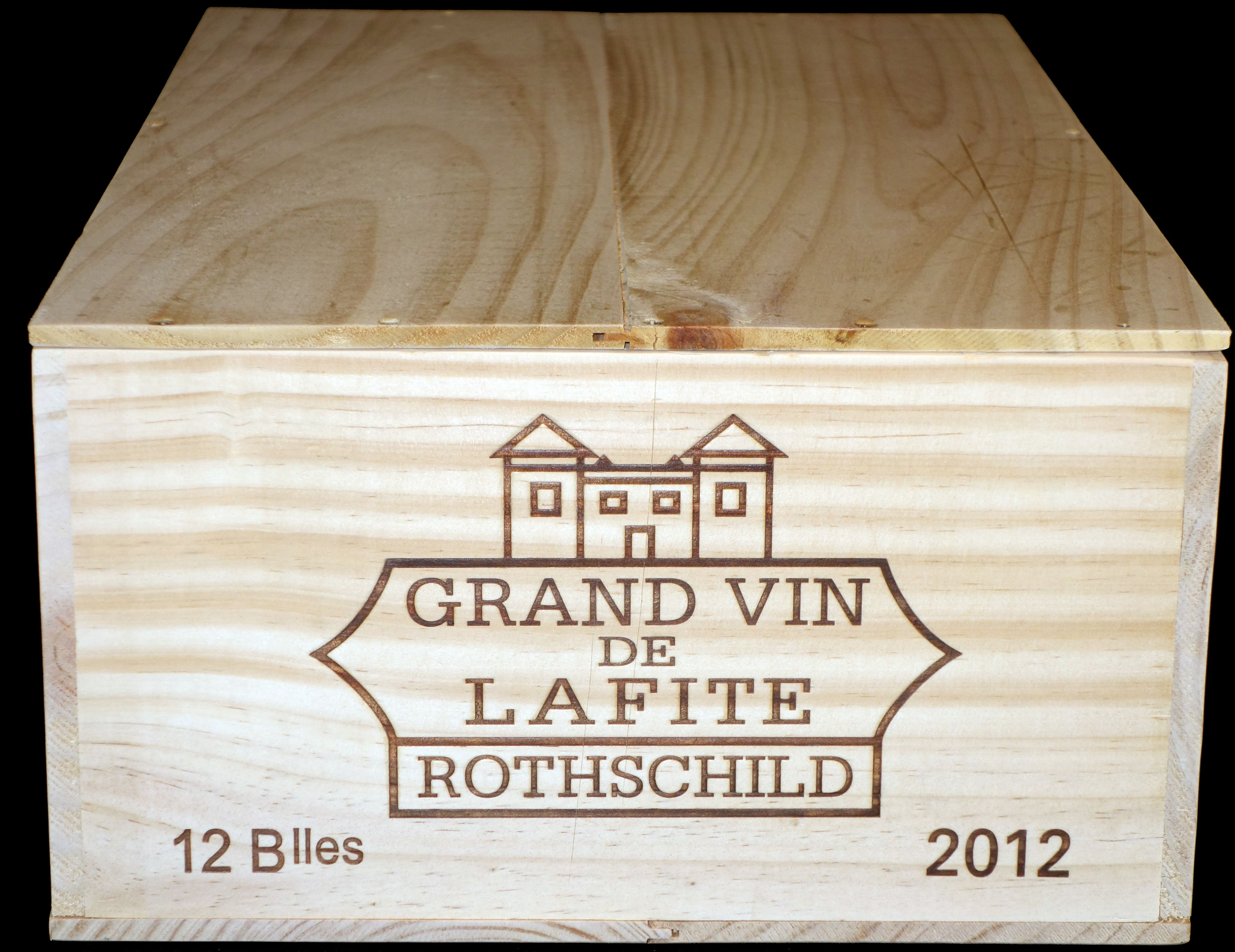 Vintage Wooden Red Bordeaux Wine Box Crate Kitchen, Dining & Bar Home & Garden