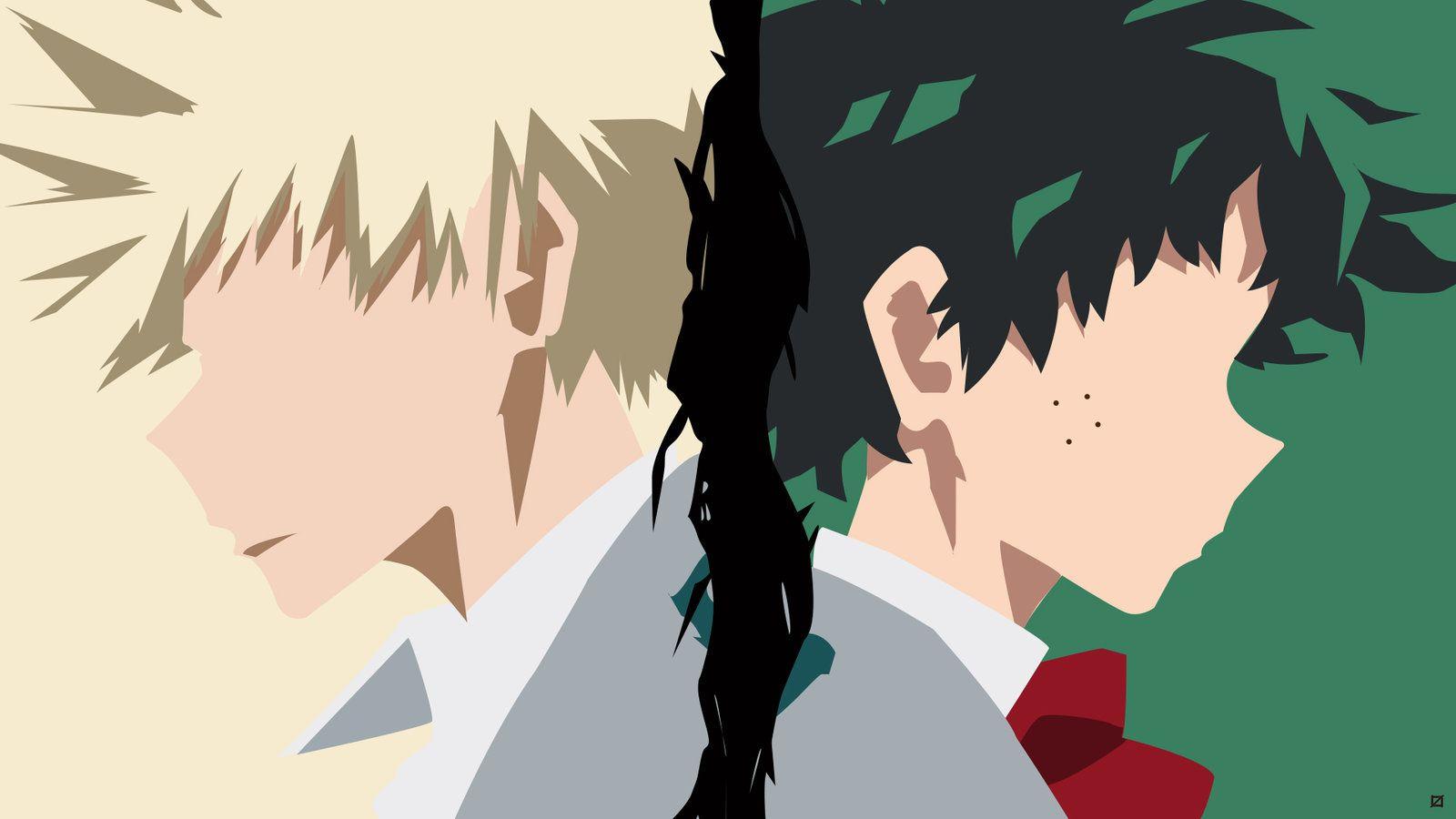 Izuku X Katsuki By Roneronturon Da14p7q Jpg 1600 900 Hero Wallpaper Anime Computer Wallpaper My Hero