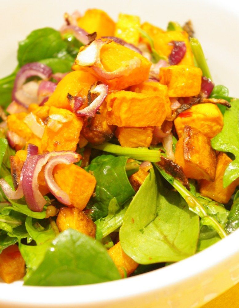 Sweet Potato, Rocket & Baby Spinach Salad