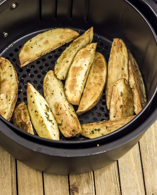 Herbed Air Fryer Potato Wedges Recipe Wedges recipe