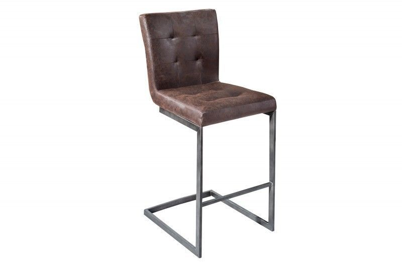 design de qualité ebdc2 0aea9 Détails sur Tabouret de bar siège jeu 2 Sutton cuir marron ...