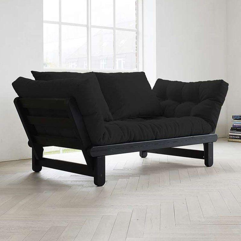 Excellent Beat Black Convertible Futon Sofa Black Beatbl005 Fresh Evergreenethics Interior Chair Design Evergreenethicsorg