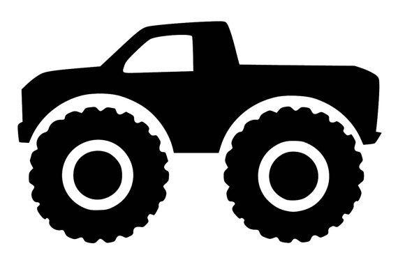 33++ Monster truck silhouette clipart info