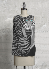 Sleeveless Top - graphic sumi-e tigress 01 by VIDA VIDA Sneakernews Cheap Online Clearance Online Cheap Real Cheap Discount Sale 0QHATKl29Y