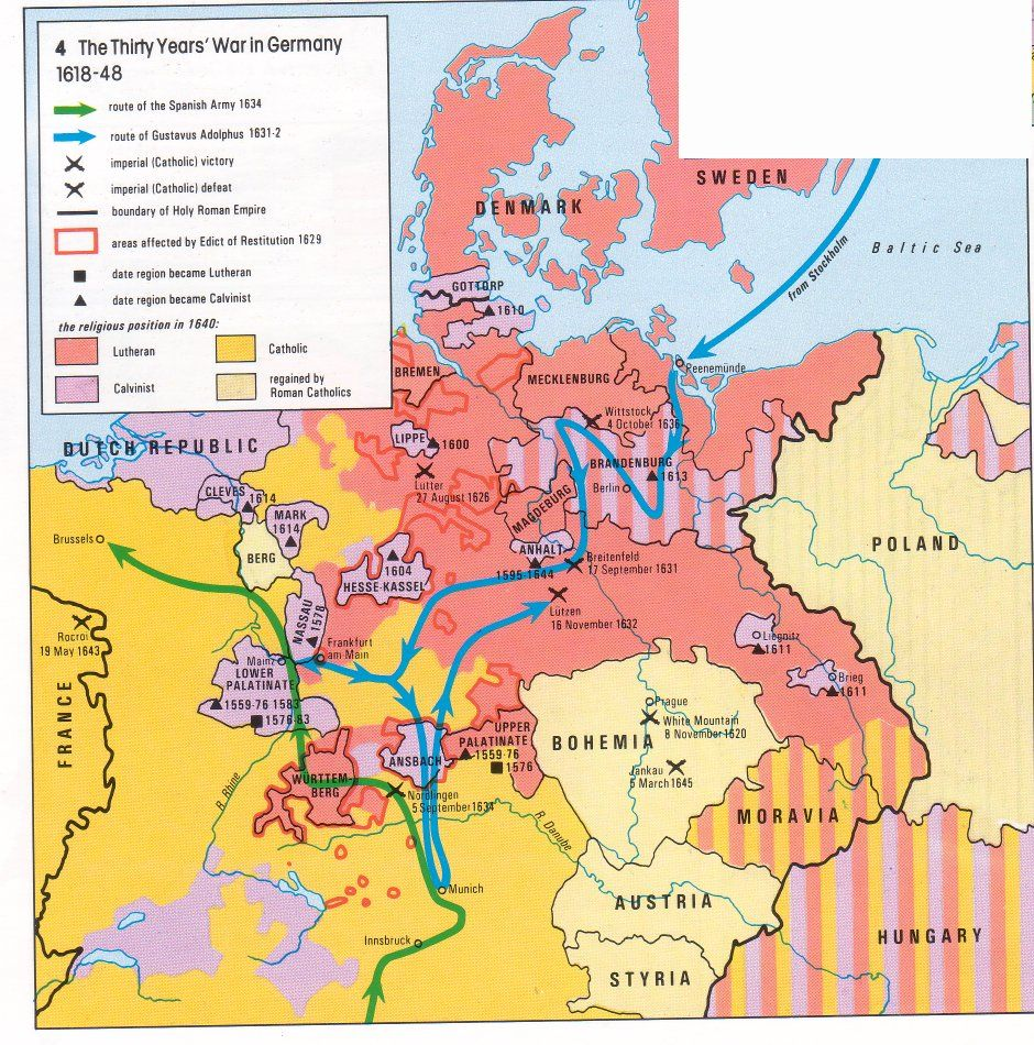 Map Of Germany 30 Years War.The Thirty Years War In Germany Germany Thirty Years