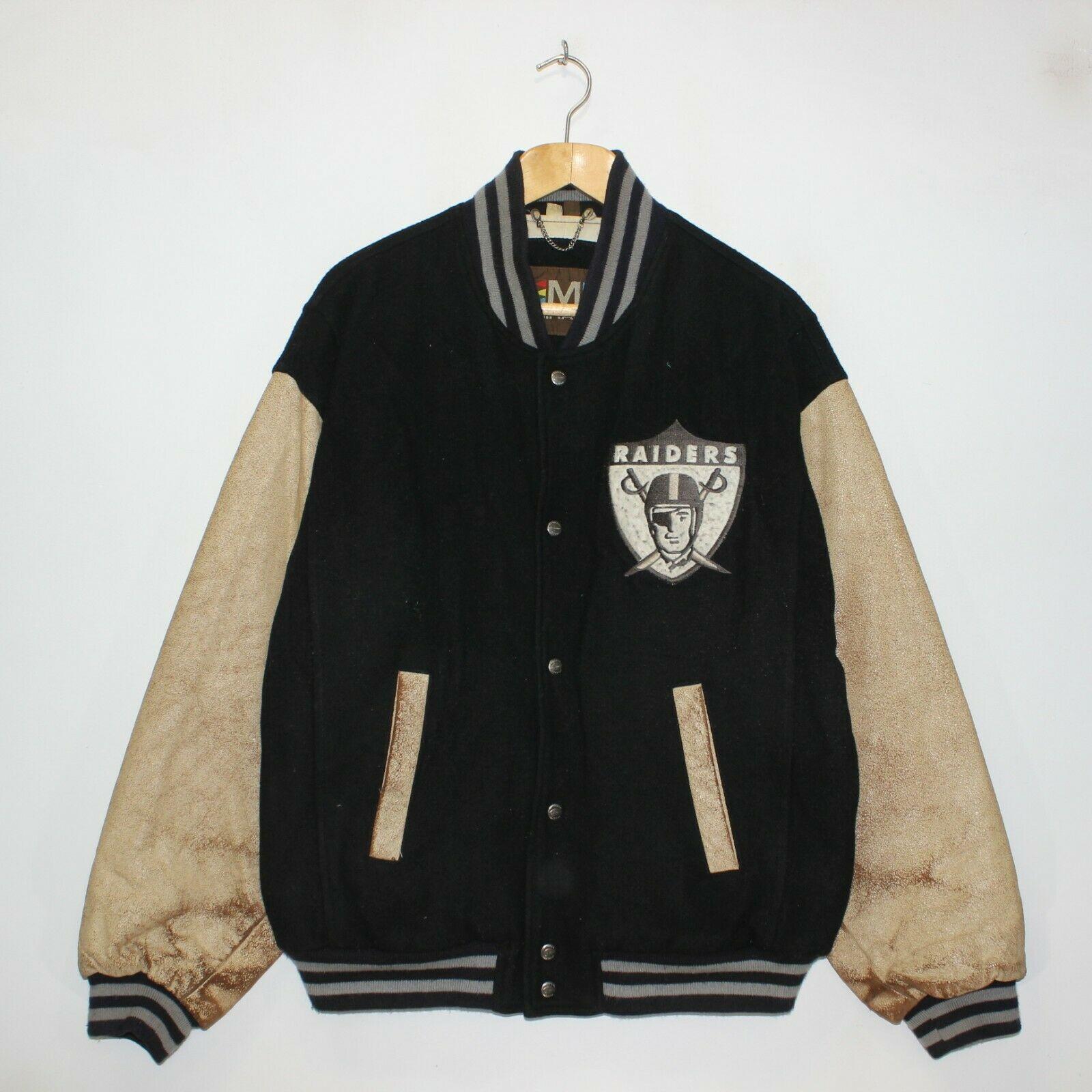 Vintage Oakland Raiders 1967 Mirage Nfl Wool Leather Varsity Jacket Size Large Ebay In 2020 Leather Varsity Jackets Varsity Jacket Jackets