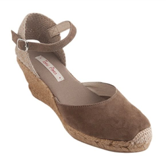 c25b0b87fe2 Suede espadrilles from Brazil TAUPE LLORET style by Brazilian ...