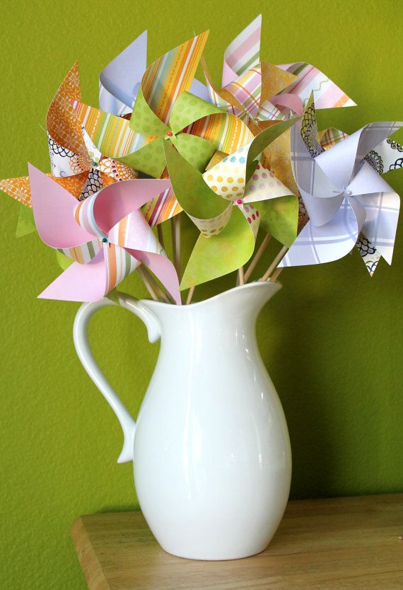 A couple homemade fans would be cute in a different bouquet