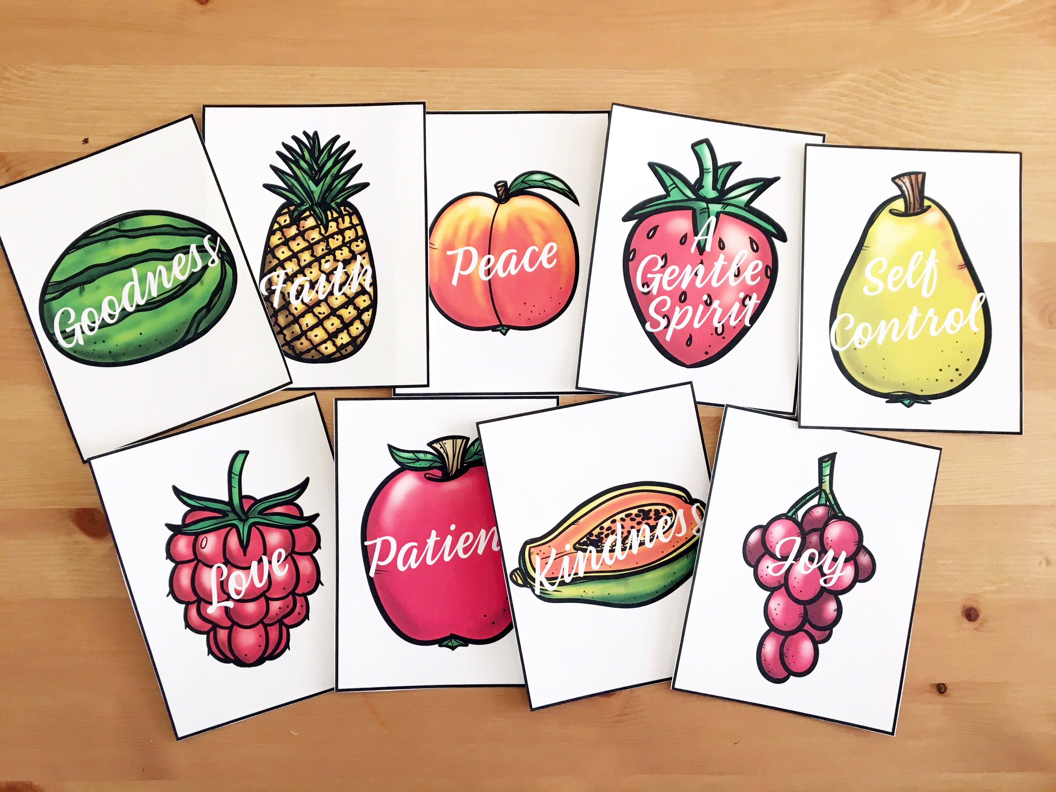 Fruits Of The Spirit Cards Fruit Of The Spirit Fruit Design Fruit Logo