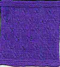 "Square #9 (9"") #free #knit #knitting #pattern #motif #square #freepattern #freeknittingpattern"