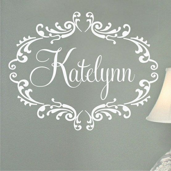 Custom Personalized Name Monogram Vinyl Decal Wall Decor Sticker Words Lettering