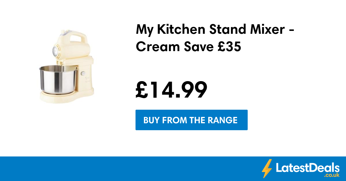 My Kitchen Stand Mixer - Cream Save £35, £14.99 at The Range