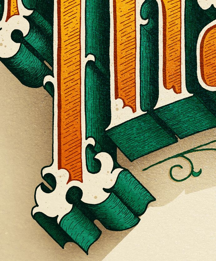 Thank You on Behance in Lettering