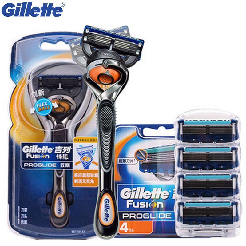 Free Shipping Buy Best Gillette Fusion Proglide Flexball Shaving Razor Blades Men Professional Razor Shaver Blades Shaving Razor Shaving Gillette Fusion