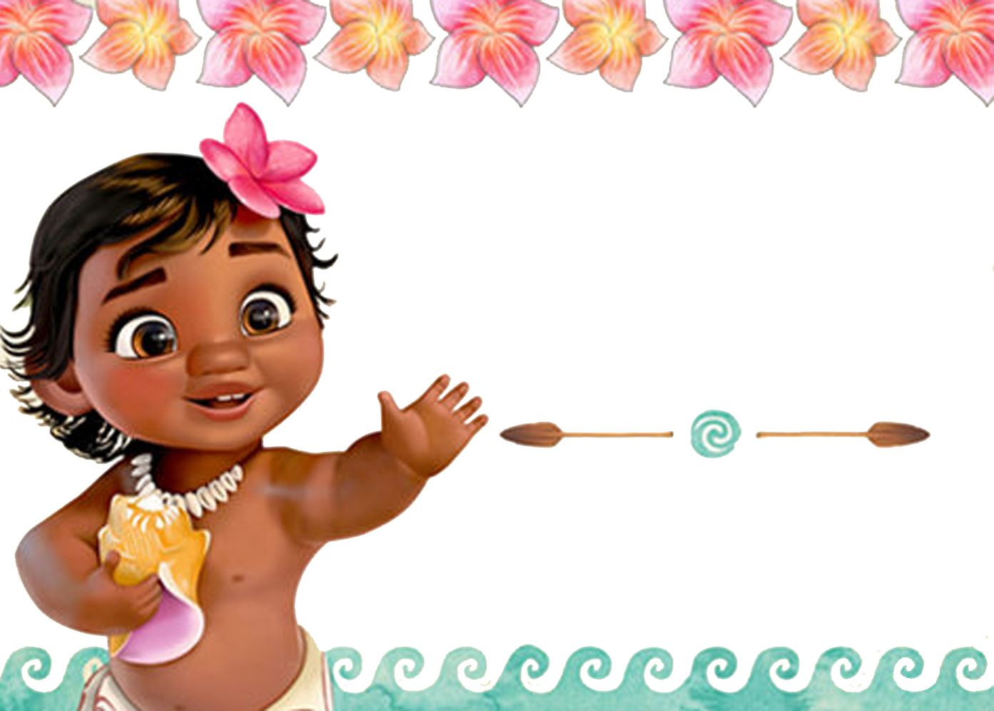 free moana birthday invitation template free printable birthday