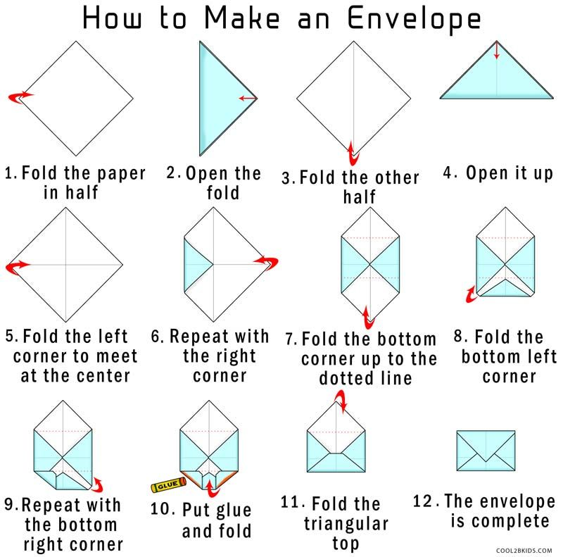 How to Make Your Own Origami Envelope from Paper Cool2bKids - 4x6 envelope template