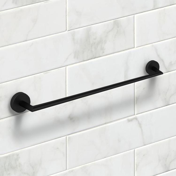 Photo of 24 inch matte black towel rail