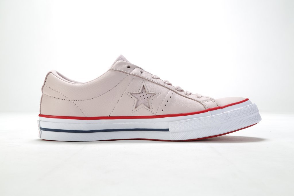 f8dc41ec453f Barely Rose Gym Red White - Soft leather Converse One Star