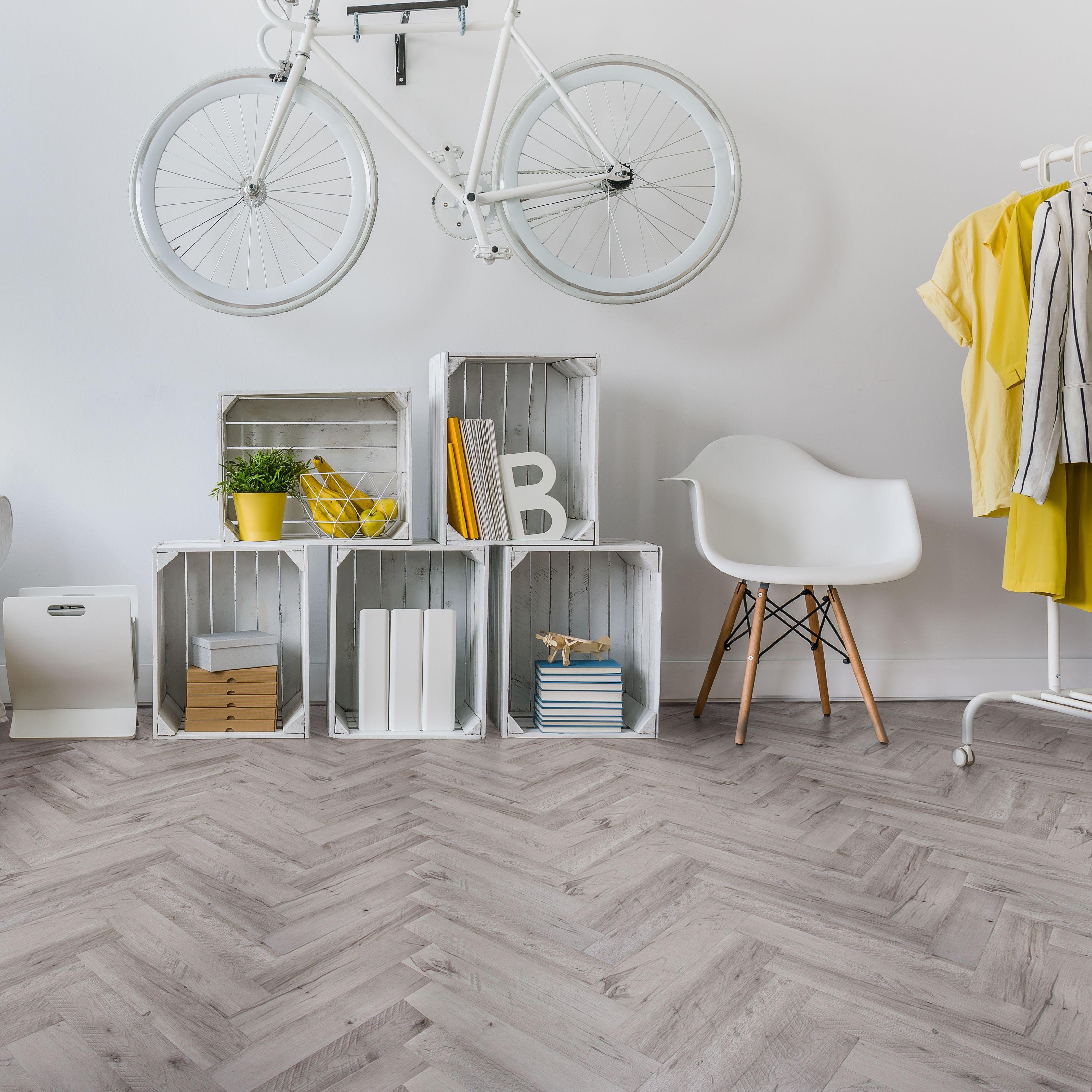 white natural oak effect waterproof luxury vinyl click flooring 1 25