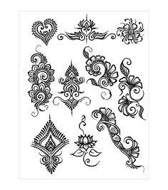 Swirly henna design sheet