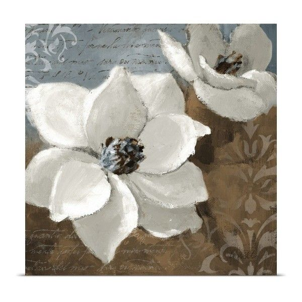 White Magnolias I ($65) ❤ liked on Polyvore featuring flowers, backgrounds, art, pictures and floral backgrounds