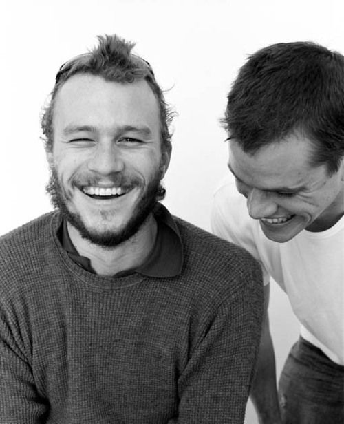 Heath Ledger and Matt Damon totally love men that laugh!
