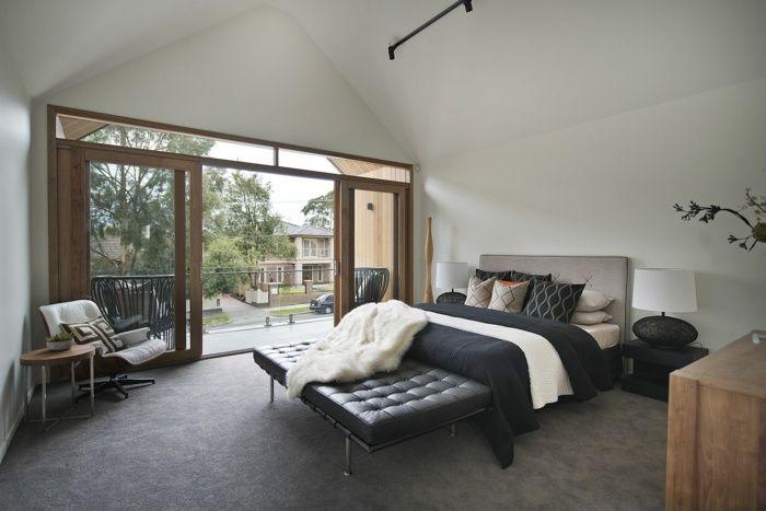 Hauptfarbe des Haus Design - Grau im Schlafzimmer