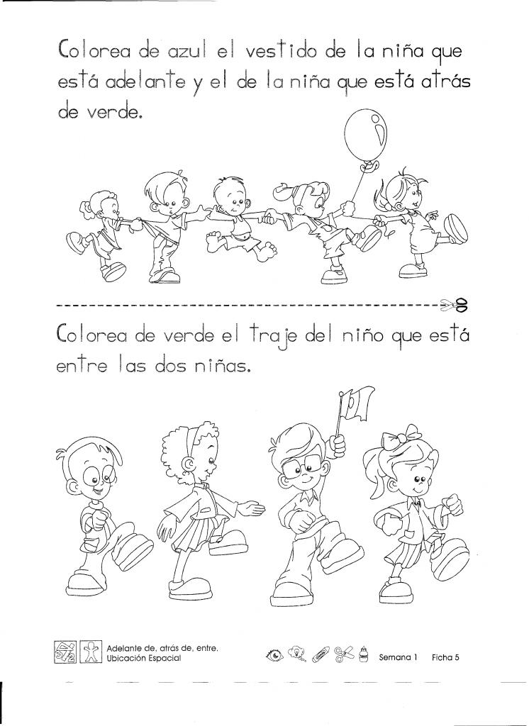 "Adelante de, atrás de, entre ""primer grado""   Spanish, Language arts ..."