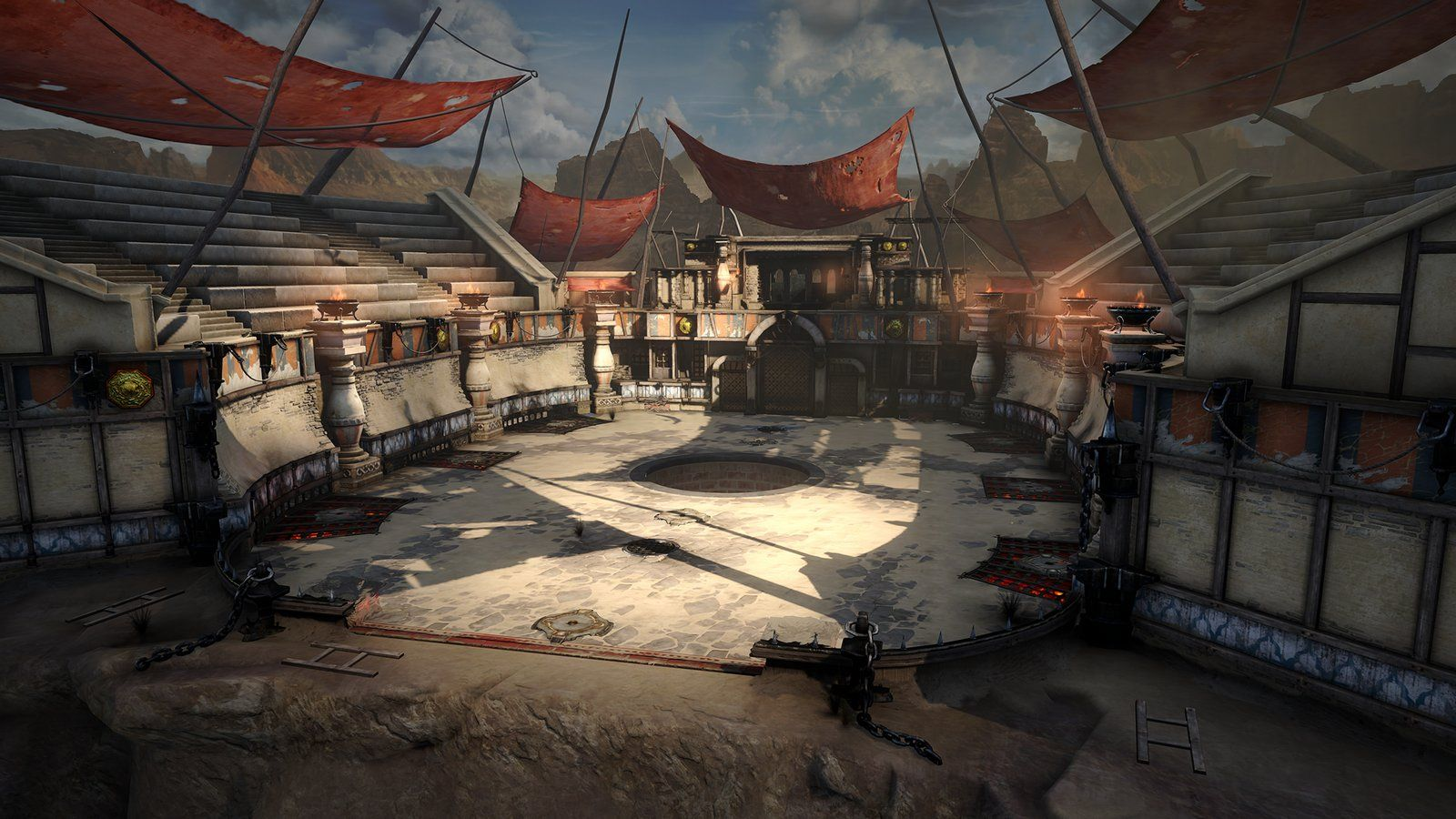 God Of War Ascension Persia Arena Shane Estanislao Cenario Anime Rpg Medieval