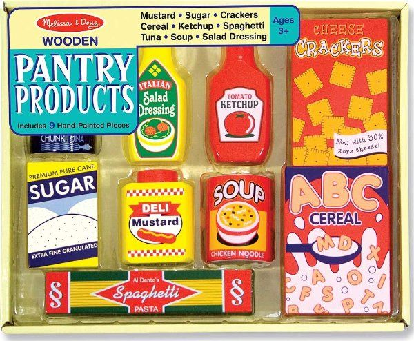 Melissa & Doug Wooden Pantry Products:Amazon:Toys & Games