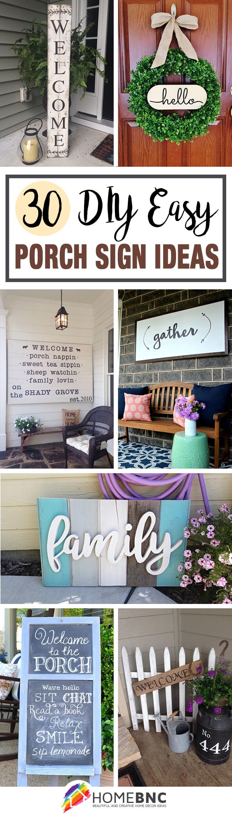 30 Easy DIY Front Porch Sign Ideas for Your Home | Hometalk: Summer ...