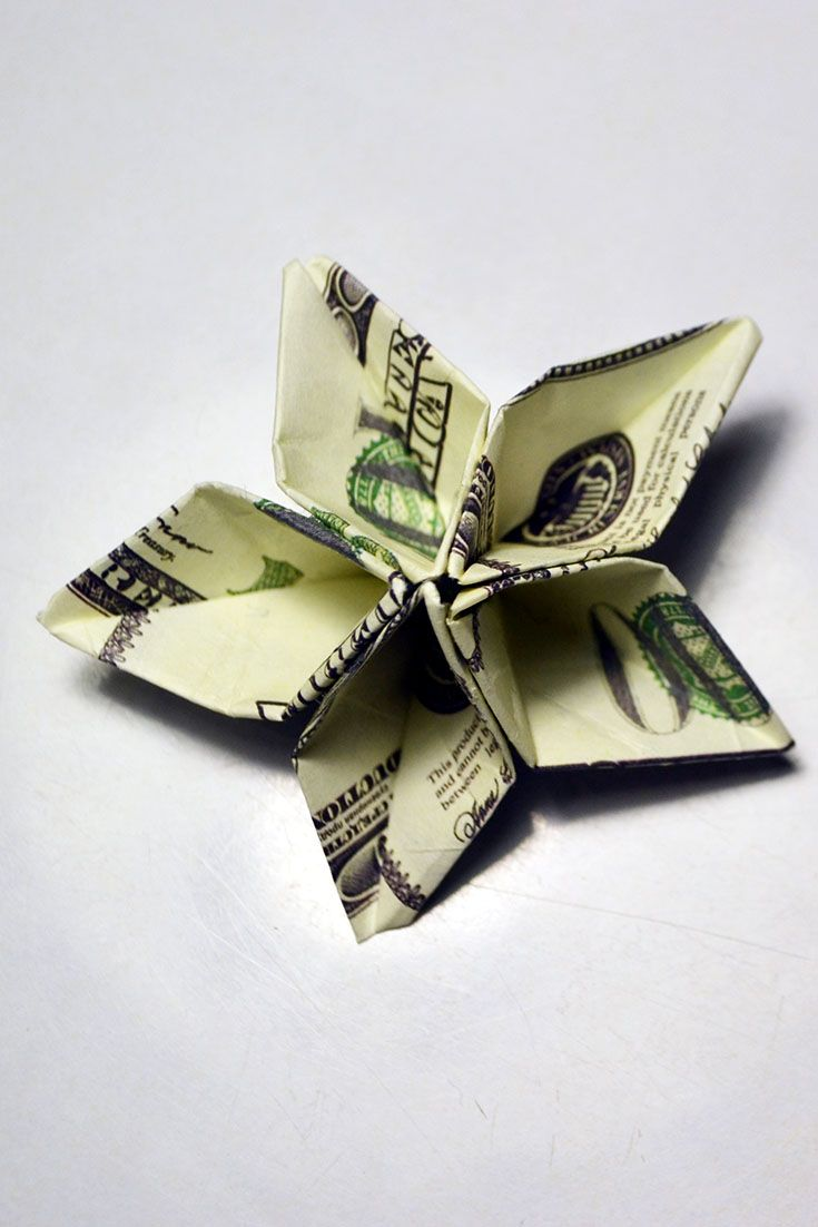 Quick Money Flower Origami Dollar Tutorial Diy Paper Decoration In