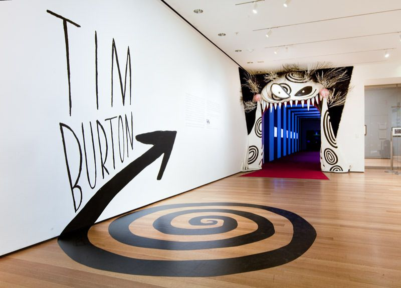Tim Burton Exhibit Entrance Moma The Department Of