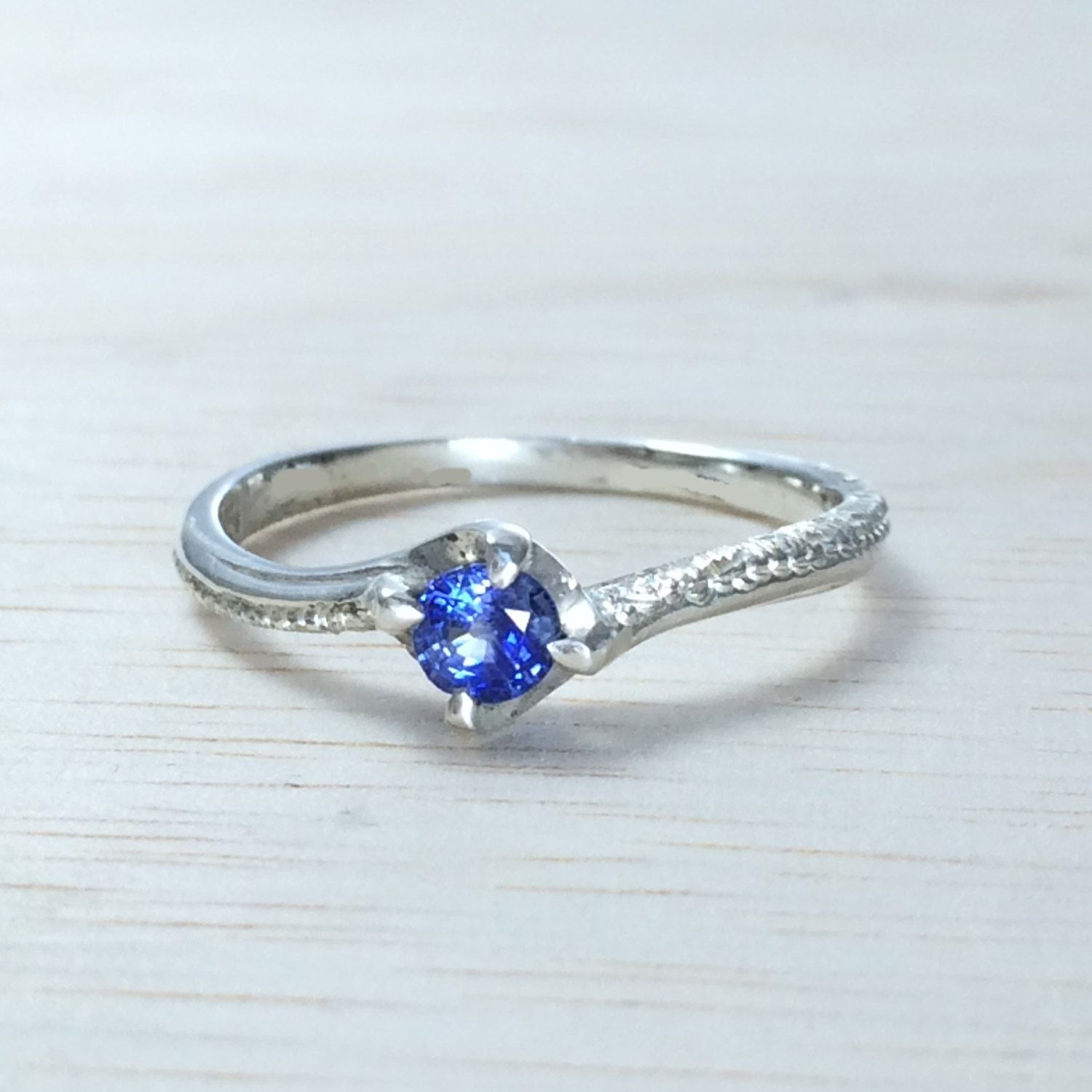 on youzan engagement pin blue etsy jewellery solitaire ring dainty by rings sapphire