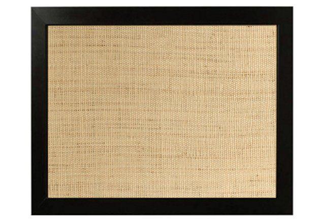 Raffia Frame Bulletin Board, Black