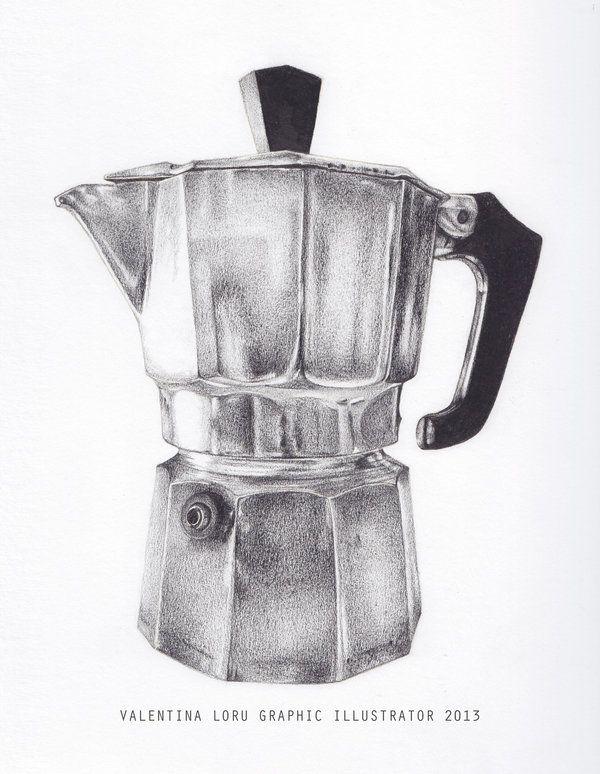 Italian Coffee pot   http://two-no.deviantart.com/art/Italian-Coffee-pot-378592713