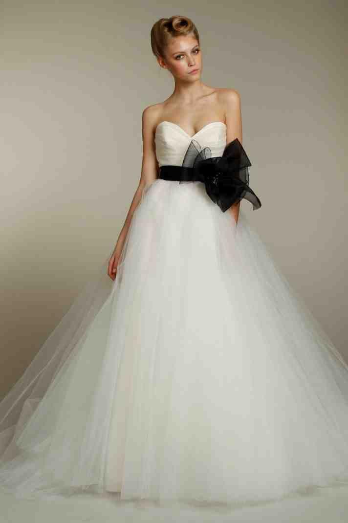 White Wedding Dress With Black Sash | Wedding Dress Sash | Pinterest ...