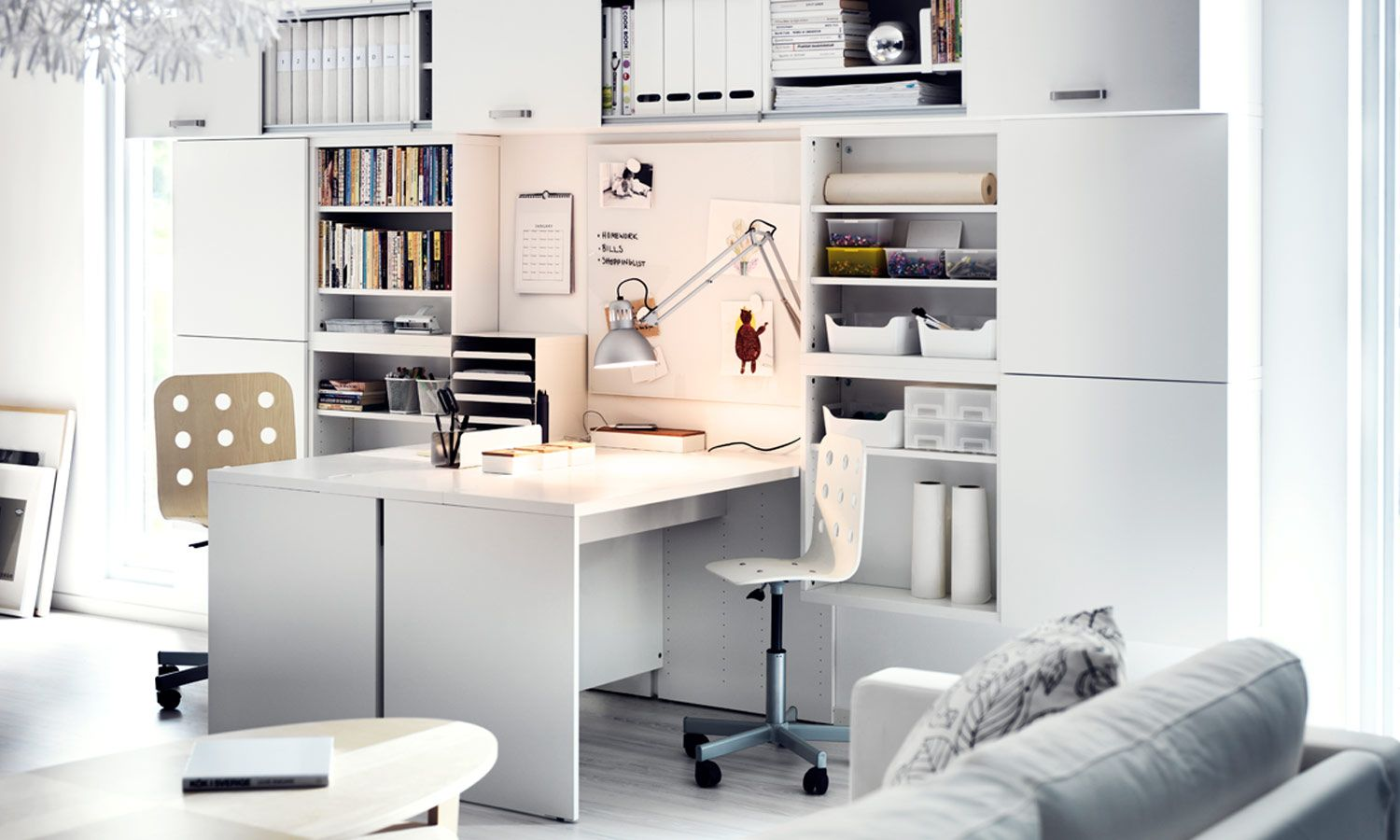 Make Your Workspace Work With A Besta Storage Combination That Is Perfect For Your Space And Customized For All Your Needs Home Office Space Home Office Home