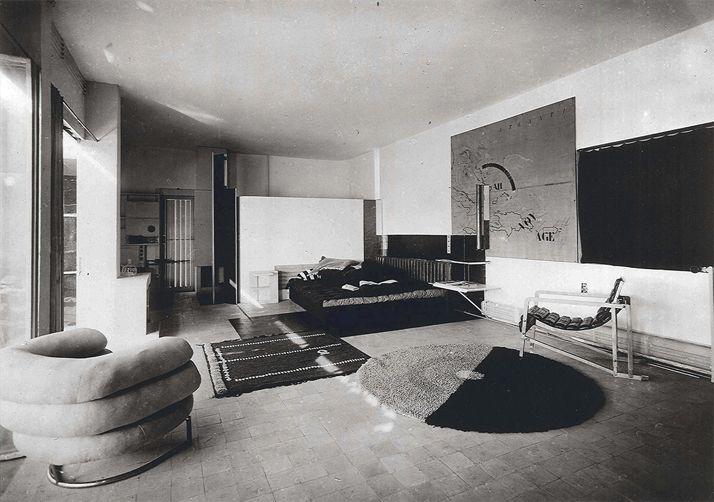 Eileen Gray. Living room in e1027, Roquebrune-Cap-Martin, Alpes Maritimes, France. 1926-1929.