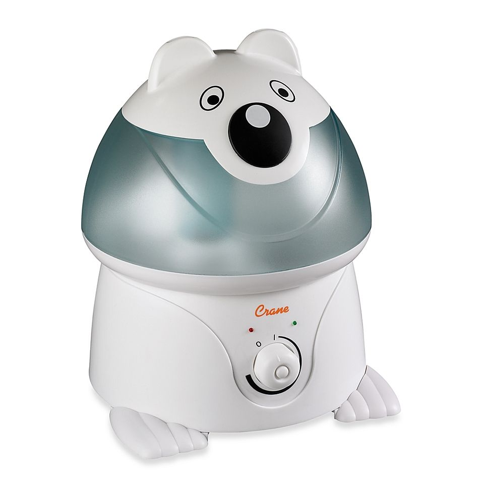 Crane Adorable Polar Bear Ultrasonic Humidifier White in