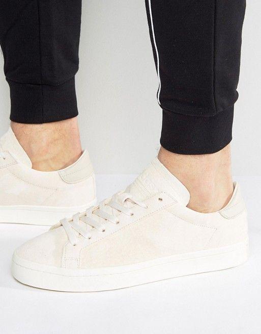 Trend Men Adidas Originals Court Vantage Mid Top Sneakers