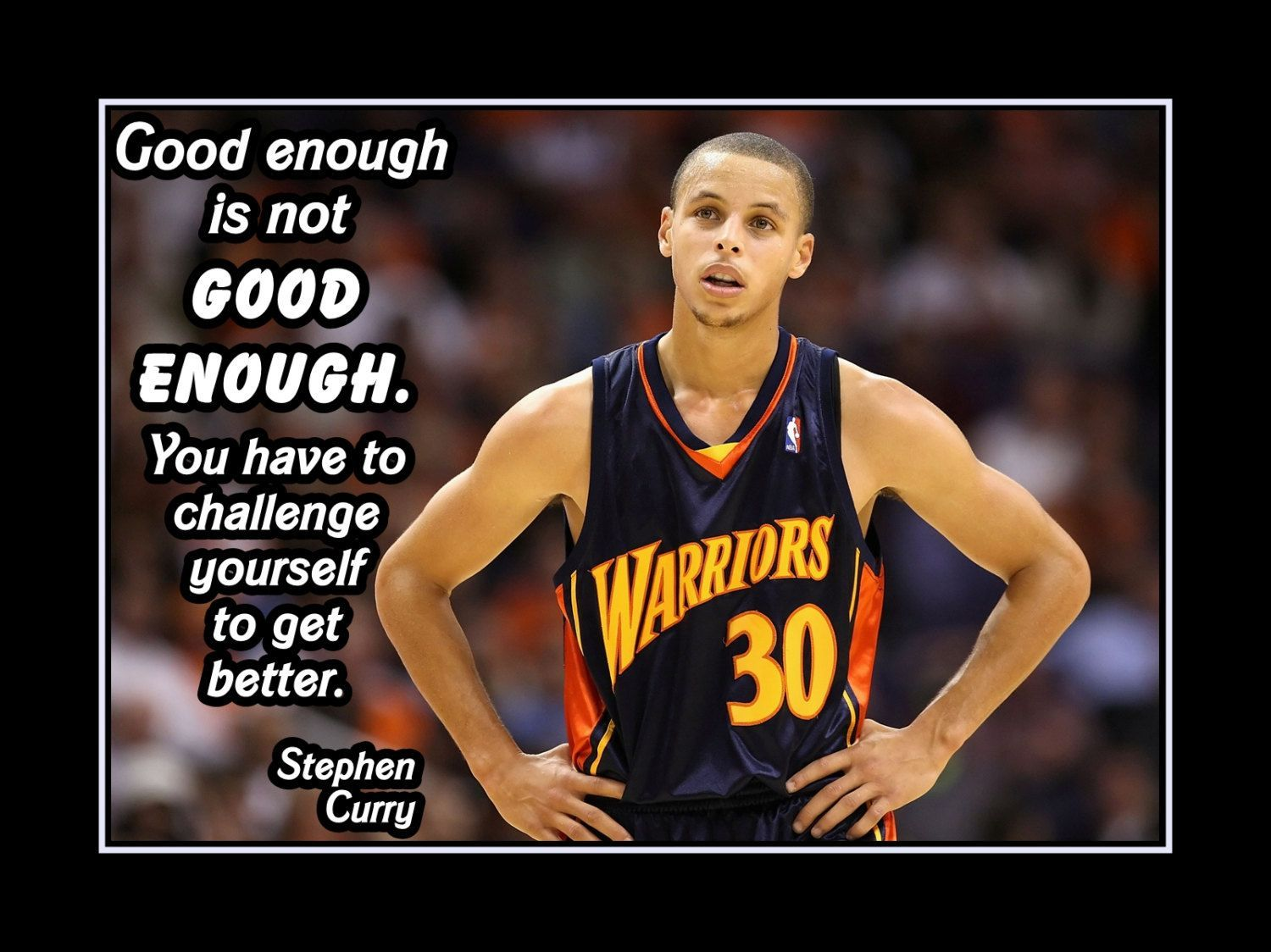 Basketball motivation poster stephen curry golden state