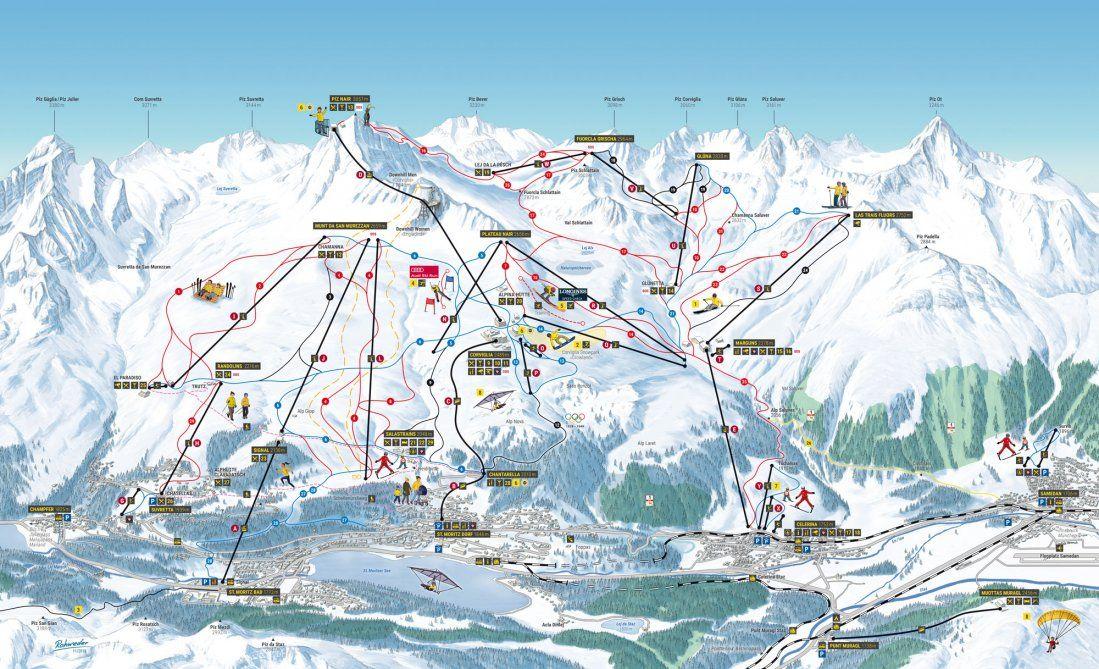 Corviglia St Moritz Engadin Switzerland Published In 2018 At