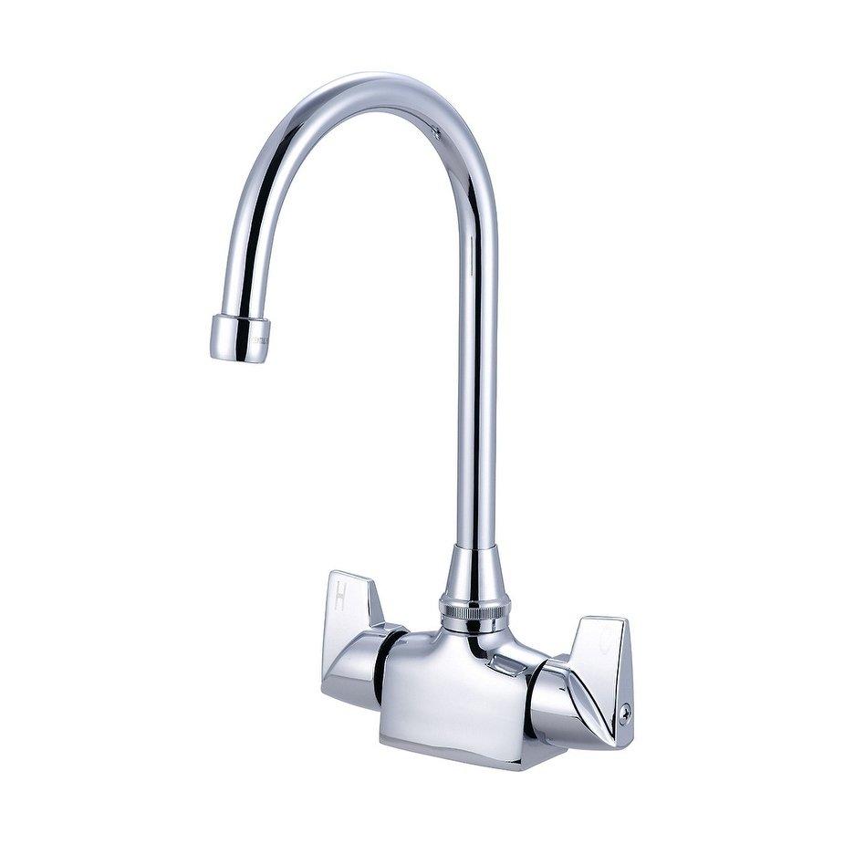 Central Brass Two Handle Bar Pantry Faucet 5 1 2 Gooseneck Swivel Spout Chrome Chrome Grey Bar Faucets Faucet Chrome