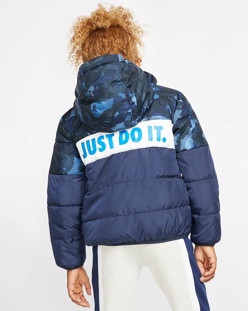 Nike Sportswear Little Kids Full Zip Puffer Jacket Nike Com Nike Sportswear Sportswear Jackets [ 1080 x 864 Pixel ]