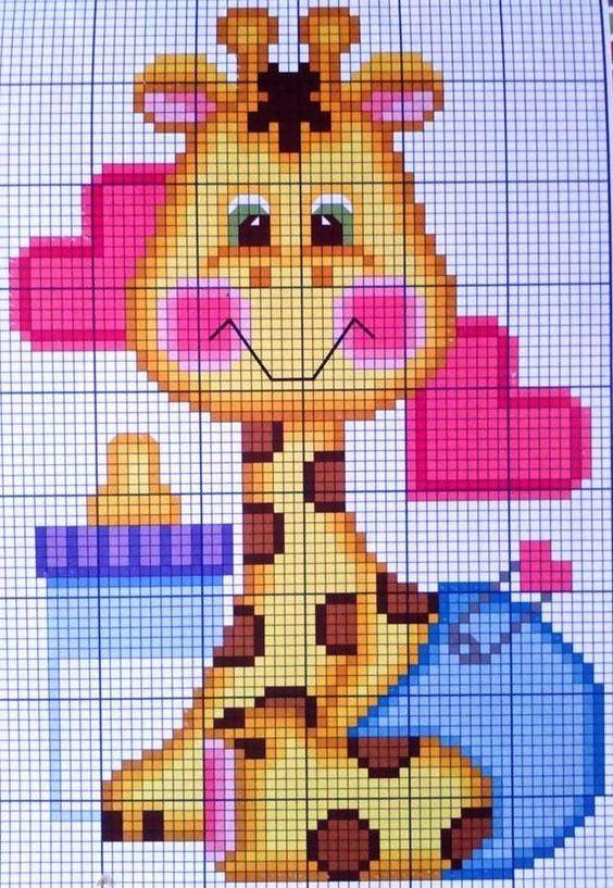 Free graph- sooo CUTE! | Manualidades | Pinterest | Babydecke muster ...